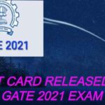 Admit card released for GATE 2021 exam