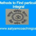 Methods to Find particular Integral