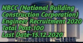 NBCC Engineer Posts Recruitment 2020