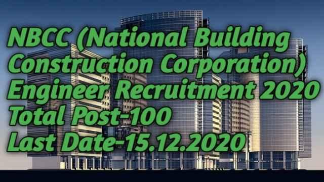 NBCC Engineer Posts Recruitment 2020