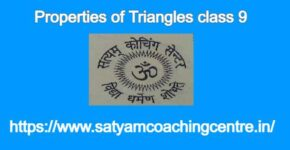 Properties of Triangles class 9