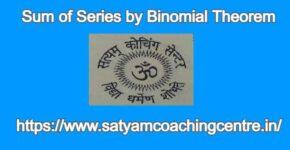 Sum of Series by Binomial Theorem