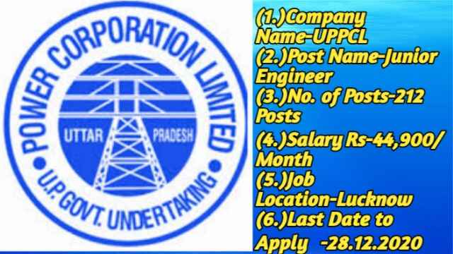 UPPCL Recruitment 2020 for Jr Engineer