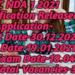 UPSC NDA 1 2021 Notification Released