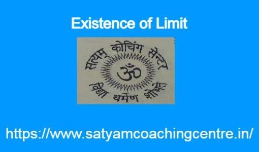 Existence of Limit