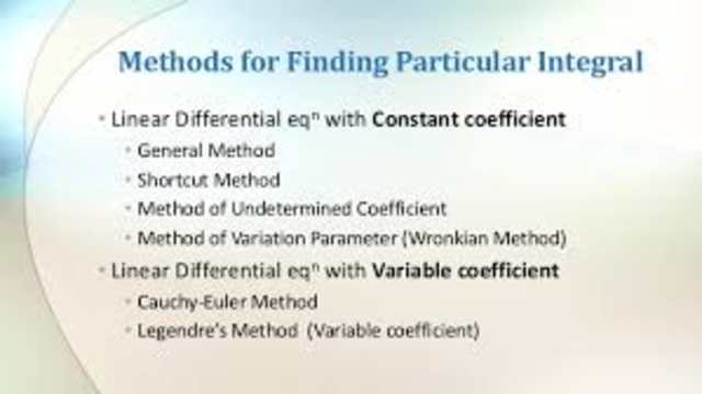 Method of finding particular integral