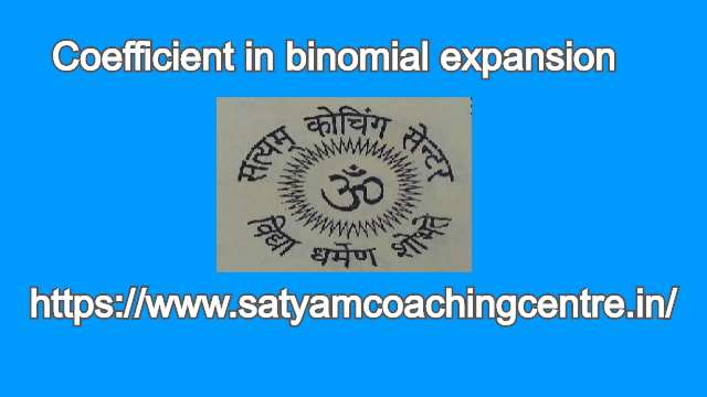 Coefficient in binomial expansion