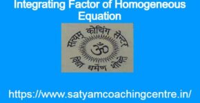 Integrating Factor of Homogeneous Equation