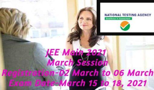 JEE Main 2021 March Registration start