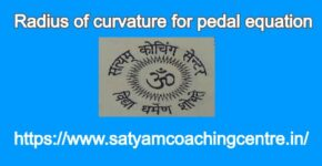 Radius of curvature for pedal equation