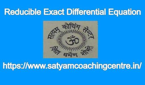 Reducible Exact Differential Equation