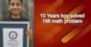 10 Years boy solved 196 math problem