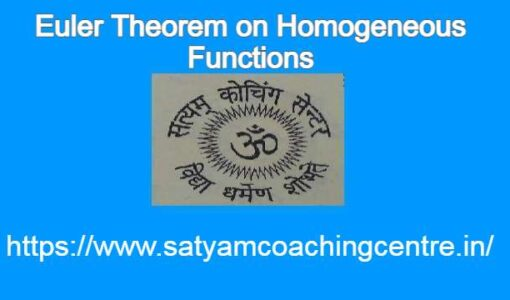 Euler Theorem on Homogeneous Functions