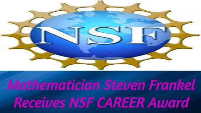 Mathematician Frankel NSF CAREER Award