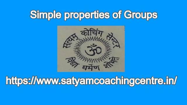 Simple properties of Groups