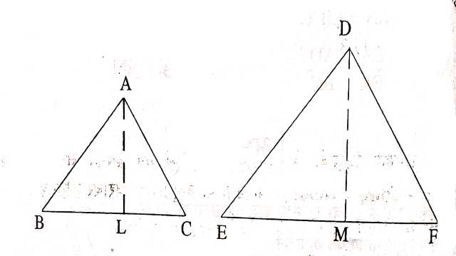 Ratio of Areas of Similar Triangles
